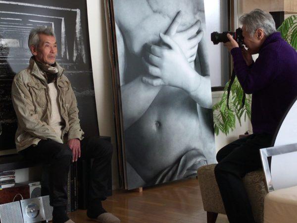 2017年2月 アメリカンエキスプレス、日本版会員誌 「デパーチャー」グラビア撮影を田原桂一が撮影している時の記録。 ©Madada Inc.
